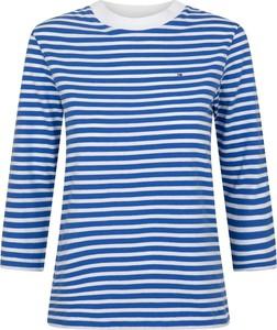 Niebieska bluzka Tommy Hilfiger z okrągłym dekoltem