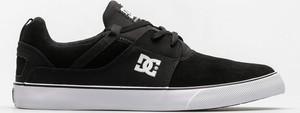 Czarne buty sportowe DC Shoes z zamszu w sportowym stylu sznurowane