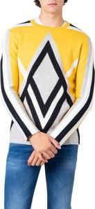 Sweter Kenzo w młodzieżowym stylu z wełny z okrągłym dekoltem