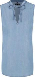 Niebieska bluzka Marc O'Polo bez rękawów w stylu casual