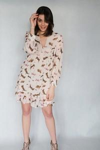 Sukienka Endoftheday w stylu boho z tkaniny mini