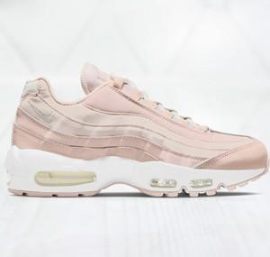 Różowe buty sportowe Nike sznurowane air max 95