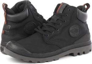 Czarne buty zimowe Palladium sznurowane