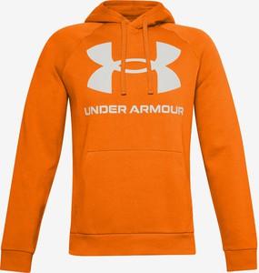 Pomarańczowa bluza Under Armour w sportowym stylu z bawełny