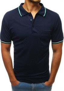 Niebieska koszulka polo Dstreet w stylu casual z bawełny