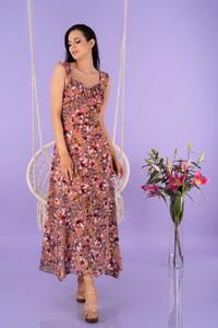 Sukienka MERRIBEL z dekoltem w kształcie litery v maxi