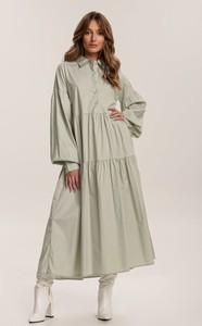 Zielona sukienka Renee z długim rękawem