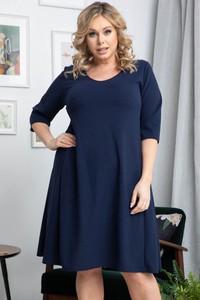 Niebieska sukienka KARKO trapezowa mini