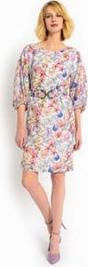 Sukienka z kwiatowym wzorem potis & verso marakuja