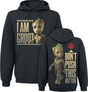 Czarna bluza Guardians Of The Galaxy z bawełny w młodzieżowym stylu