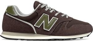 Brązowe buty sportowe New Balance z zamszu sznurowane