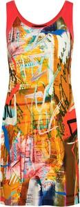 Sukienka BLEU D'AZUR na ramiączkach mini z okrągłym dekoltem