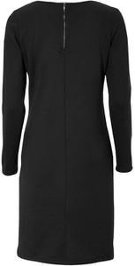 Czarna sukienka Soyaconcept z długim rękawem z dżerseju