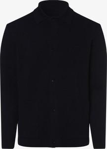 Granatowy sweter Finshley & Harding z dzianiny w stylu casual