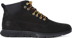 Czarne buty zimowe Timberland ze skóry sznurowane