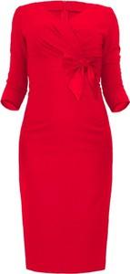 Sukienka Camill Fashion midi z długim rękawem