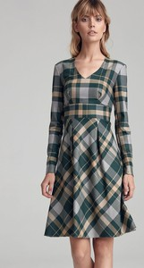 Zielona sukienka Colett mini w stylu casual