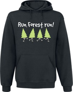 Czarna bluza Run, Forest, Run! z bawełny