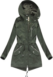 Zielona kurtka Dream Stone z bawełny w stylu casual długa