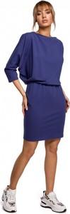 Sukienka MOE mini z długim rękawem z okrągłym dekoltem