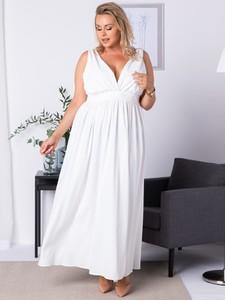 Sukienka KARKO maxi z dekoltem w kształcie litery v