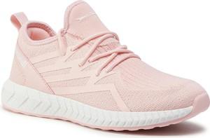 Różowe buty sportowe Sprandi sznurowane z płaską podeszwą