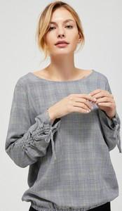 Koszula Moodo z okrągłym dekoltem w stylu casual