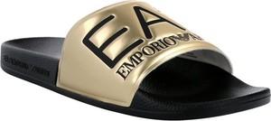 Klapki EA7 Emporio Armani z płaską podeszwą