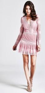 Sukienka Guess w stylu boho mini bez rękawów