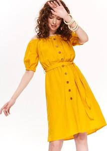 Żółta sukienka Top Secret w stylu casual mini