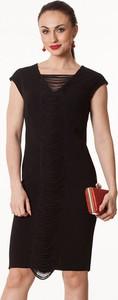 Sukienka Semper z dekoltem w kształcie litery v midi dopasowana