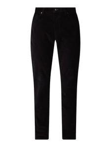 Czarne spodnie Montego z bawełny
