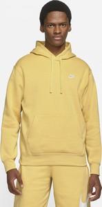 Żółta bluza Nike z polaru w sportowym stylu