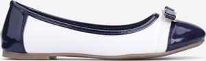 Baleriny Yourshoes ze skóry ekologicznej z płaską podeszwą w stylu casual