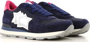 Granatowe buty sportowe Atlantic Stars w sportowym stylu