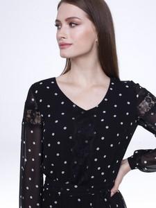 Czarna sukienka L'AF z dekoltem w kształcie litery v