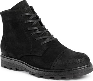 Czarne buty zimowe Krisbut