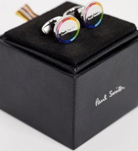 Paul Smith – Spinki do mankietów w kolorze srebra z okrągłym logo-Srebrny