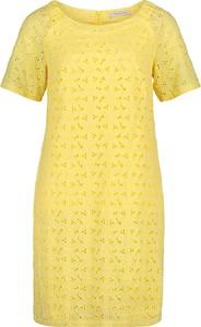 Żółta sukienka Betty Barclay z bawełny prosta