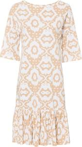 Bluzka bonprix RAINBOW w stylu boho z dekoltem w karo