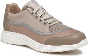 Buty sportowe Ryłko z zamszu sznurowane z płaską podeszwą