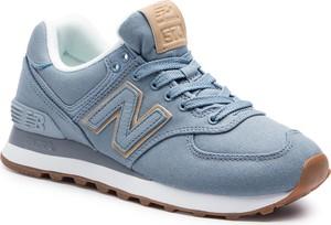 Buty sportowe New Balance sznurowane ze skóry ekologicznej z płaską podeszwą