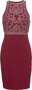 Sukienka bonprix BODYFLIRT boutique dopasowana z okrągłym dekoltem w stylu glamour