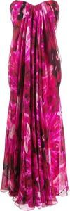 Różowa sukienka Alexander McQueen maxi