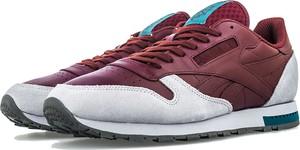 Czerwone buty sportowe Reebok w street stylu sznurowane
