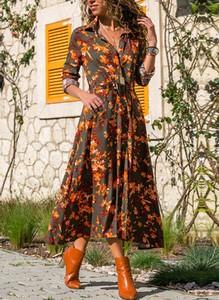 Sukienka Cikelly z długim rękawem kopertowa midi