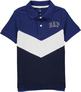 Niebieska koszulka dziecięca Gap z bawełny