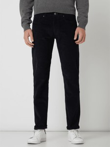 Granatowe spodnie Montego w stylu casual