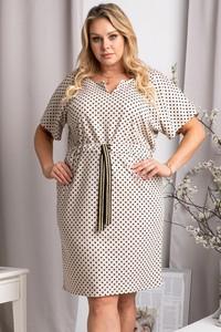 Sukienka KARKO dla puszystych z krótkim rękawem mini