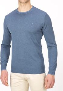 Niebieski sweter Lanieri w stylu casual z jeansu